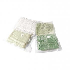 Set de 2 Funda para la ropa de Plástico COMPACTOR 80 x 100 x 1 cm - Translúcido
