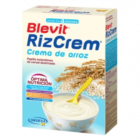 Papilla con cereales y crema de arroz