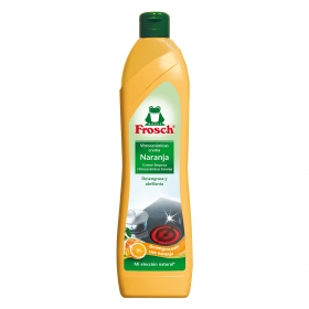 Limpiador de vitrocerámica aroma naranja en crema ecológico Froggy 650 ml.