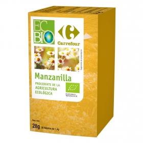 Manzanilla en bolsitas ecológica Carrefour Bio 28 g.