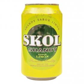Cerveza Skol Shandy con limón lata 33 cl.