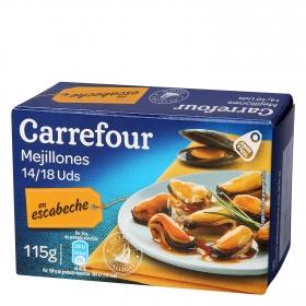 Mejillones de las rías gallegas en escabeche Carrefour 115 g.