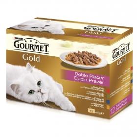 Purina Gourmet Gold Comida Húmeda para Gato Doble Placer Surtido 12x85g