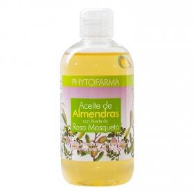 Aceite de almendras + rosa mosqueta Phytofarma 250 ml.