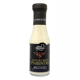 Salsa de cinco pimientas Salsas Asturianas botella 287 g.