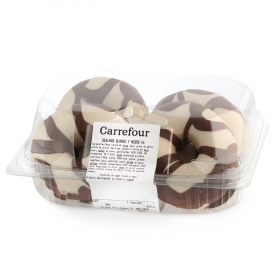 Berlinas chocolate blanco y negro Carrefour 4 ud