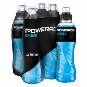 Bebida Isotónica Powerade Ice Storm pack de 4 botellas 50 cl.