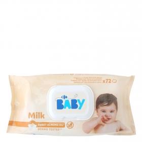 Toallitas para bebé Milk Carrefour Baby 72 ud.