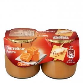 Postre de caramelo Carrefour sin gluten pack de 2 unidades de 135 g.
