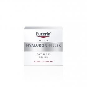 Crema facial para piel seca rellenador de arrugas Hyaluron Filler para el día con FP15