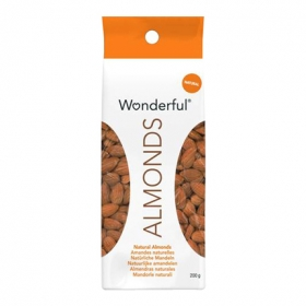 Almendras naturales con piel Wonderful 200 g.