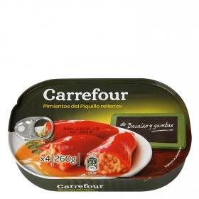 Pimientos del piquillo rellenos de bacalao Carrefour 260 g.