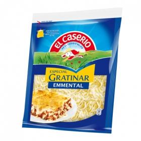 Queso rallado emmental especial para gratinar El Caserío 140 g.