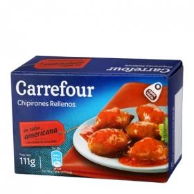 Chipirones rellenos en salsa americana Carrefour sin gluten 72 g.