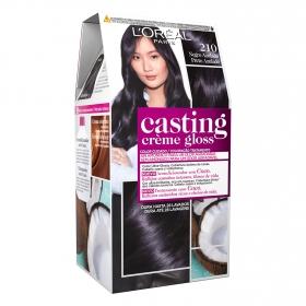 Tinte Créme Gloss nº 210 Negro Azulado L'Oréal Casting 1 ud.