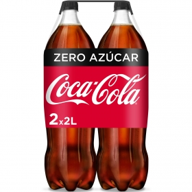 Refresco de cola Coca Cola zero pack de 2 botellas de 2 l.