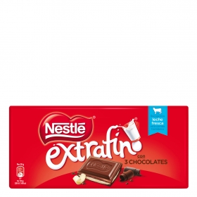 Chocolate extrafino con 3 chocolates Nestlé 120 g.