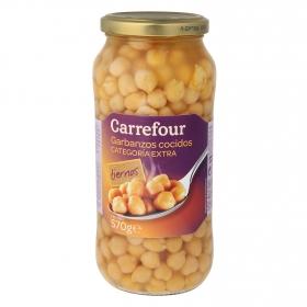 Garbanzo cocido Carrefour categoría extra 400 g.