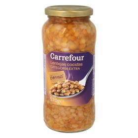 Lenteja Carrefour cocida categoría extra 400 g.