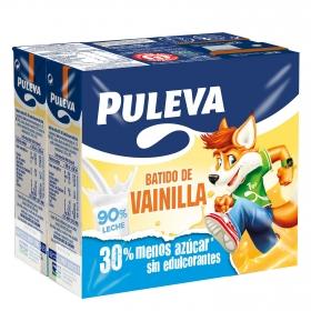 Batido de vanilla Puleva pack de 6 briks de 200 ml.