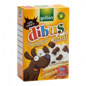 Galletas de chocolate Dibus Mini Gullón sin lactosa 250 g.