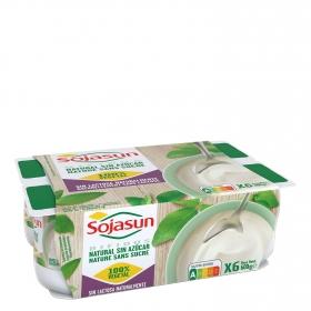 Yogur bífidus natural Sojasun pack de 6 unidades de 100 g.