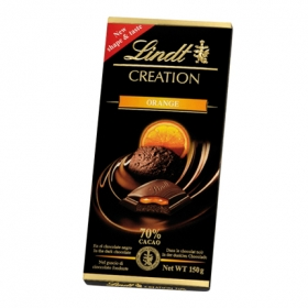 Chocolate negro 70% relleno de naranja Lindt Creation 150 g.