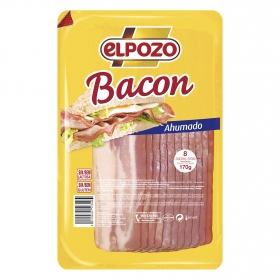 Bacon ahumado lonchas El Pozo 170 g.