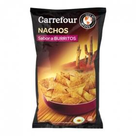 Nachos sabor burritos Carrefour 200 g.
