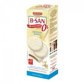 Galletas B-San con chocolate blanco sin azúcar