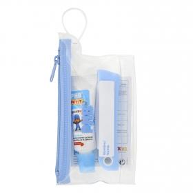 Kit de viaje cepillo de dientes + dentífrico infantil Phb 15 ml.