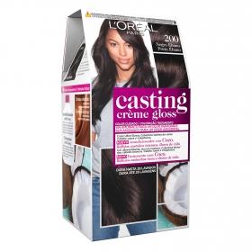 Tinte Créme Gloss nº 200 Negro Ébano L'Oréal Casting 1 ud.