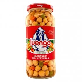 Garbanzos cocidos con verduras Luengo 570 g.