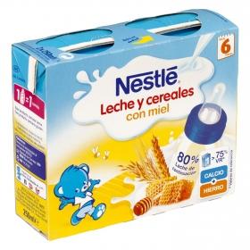 Papilla líquida de 8 cereales con miel