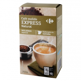 Café molido natural Express Carrefour 250 g.