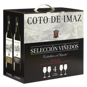LOTE 65: 2 botellas D.O. Ca. Rioja El Coto tinto crianza 75 cl. + 2 botellas D.O. Rioja Coto de Imaz tinto reserva 75 cl.