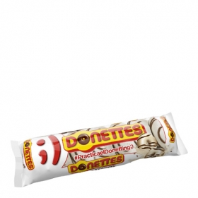 Bollito recubierto de chocolate blanco rayado Donettes 7 ud.