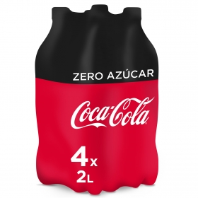 Refresco de cola Coca Cola zero pack de 4 botellas de 2 l.