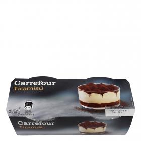 Tiramisú Carrefour pack de 2 unidades de 80 g.
