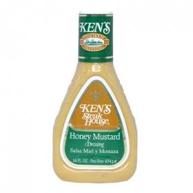 Salsa miel y mostaza Ken's envase 454 g.