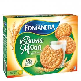 Galletas integrales con fibra y soja Fontaneda 700 g.
