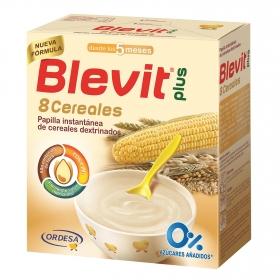 Papilla infantil desde 5 meses de 8 cereales sin azúcar añadido Blevit plus 1000 g.