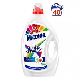 Detergente líquido adiós al separar Micolor 40 lavados.