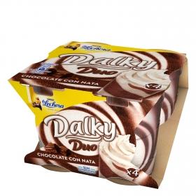 Copa de chocolate con nata Nestlé - La Lechera pack de 4 unidades de 90 g.