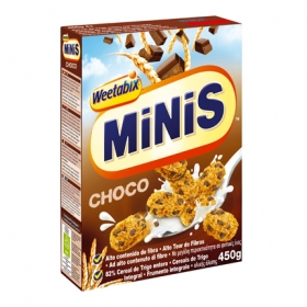 Cereal de trigo entero Minis Choco con trocitos de chocolate