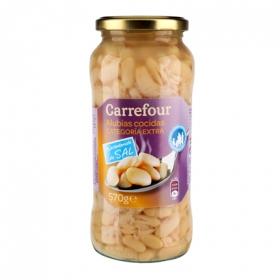 Alubia cocida categoría extra baja en sal Carrefour 400 g.