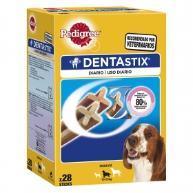 Pedigree Dentastix. Pack Mensual de 28 barritas