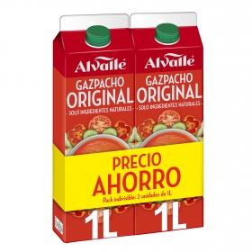 Gazpacho Alvalle sin gluten pack de 2 unidades de 1 l.