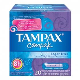 Tampones Compak Lites Tampax 20 ud.