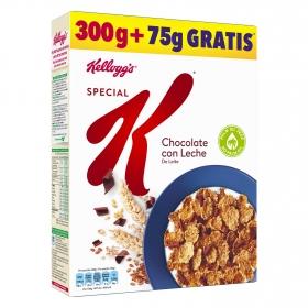 Chocolate con Leche: Copos tostados de arroz y trigo con virutas de chocolate con leche